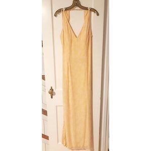 Caché Creamsicle Beaded Gown L
